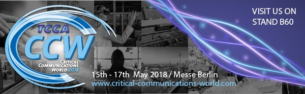 Roger-GPS in Critical Communications World 2018 Exhibition